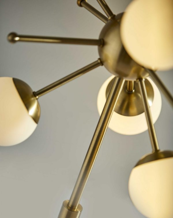 """15"""" X 15"""" X 23"""" Brass Electronic LED Table Lamp"""