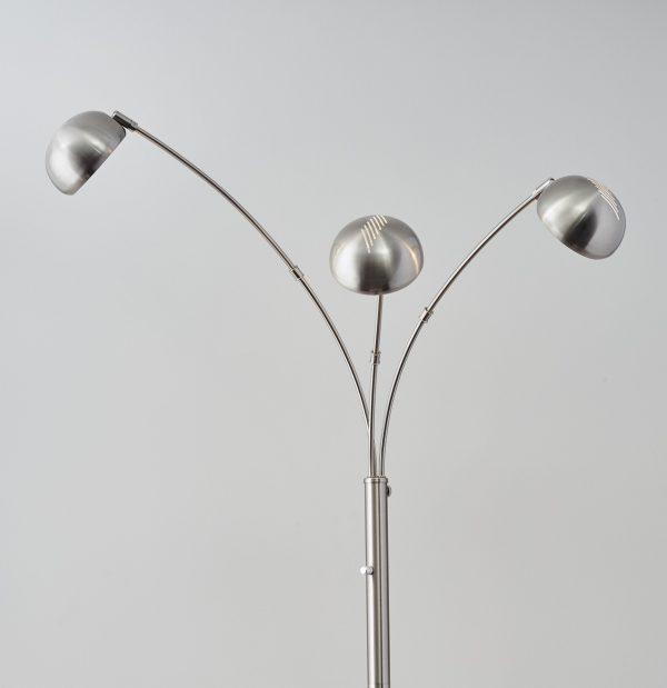 "45"" X 33"" X 84"" Brushed steel Metal Arc Lamp"