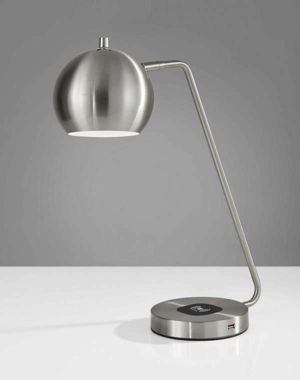 """6.5"""" X 16.5"""" X 18"""" to 20.5"""" Brushed Steel Metal AdessoCharge"""