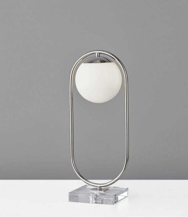 """8"""" X 6"""" X 19"""" Black Metal LED Table Lamp"""