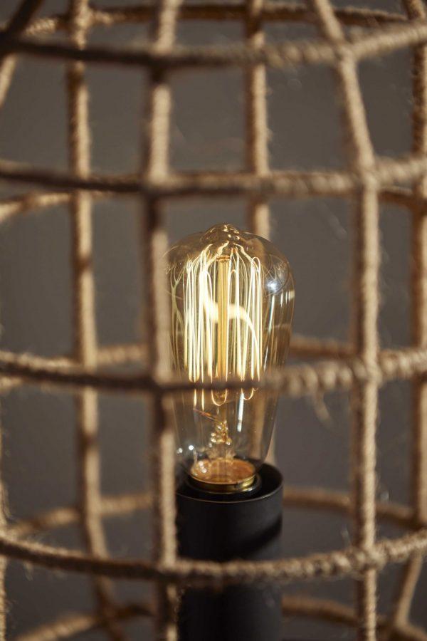 "12.25"" X 12.25"" X 25"" Black Shade Table Lamp"