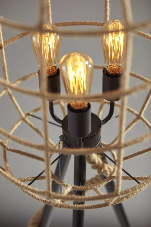 "25"" X 25"" X 67.5"" Black Shade Floor Lamp"