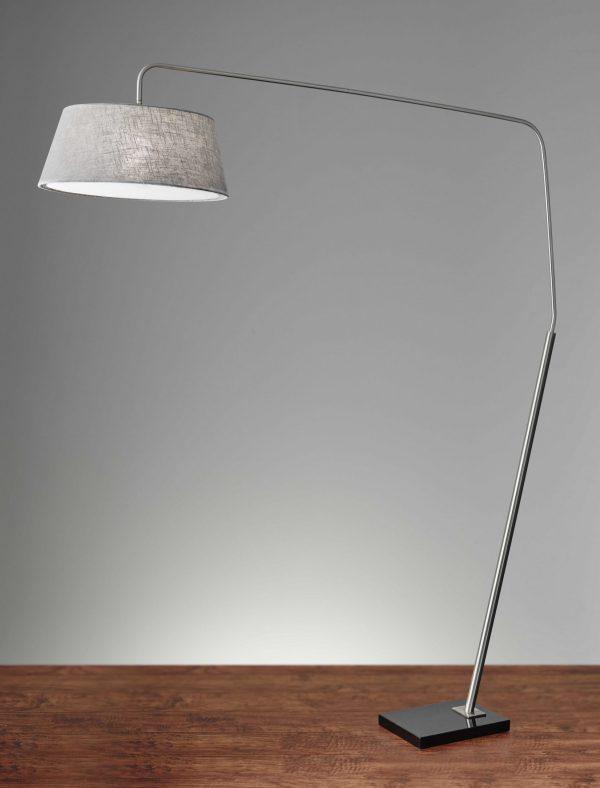 "72"" X 21.5"" X 85"" Brushed Steel Metal Arc Lamp"