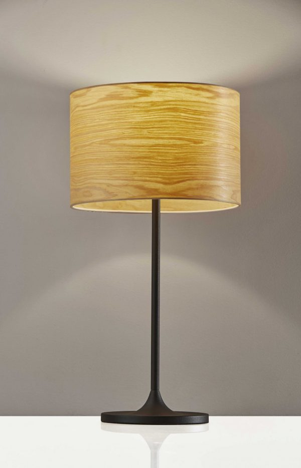 "11.75"" X 11.75"" X 22.5"" Black Metal Table Lamp"