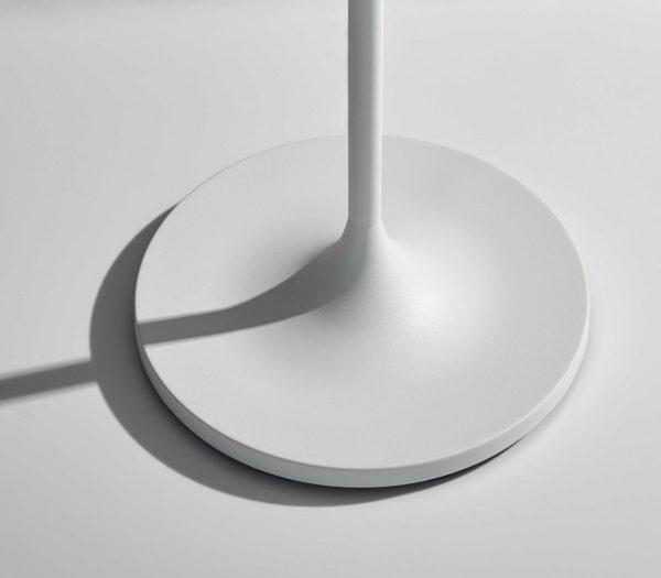 "17.75"" X 17.75"" X 60"" White Metal Floor Lamp"