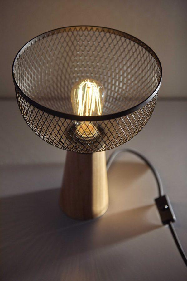 """9.5"""" X 9.5"""" X 11.75""""  Metal Table Lamp"""