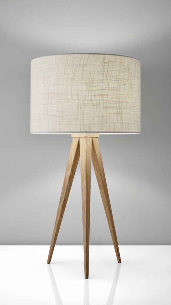 """13.75"""" X 13.75"""" X 26.25"""" Natural Metal Table Lamp"""