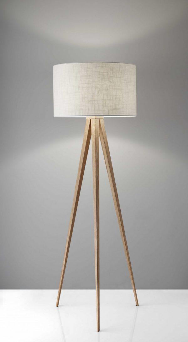 """21"""" X 21"""" X 60.25"""" Natural Metal Floor Lamp"""