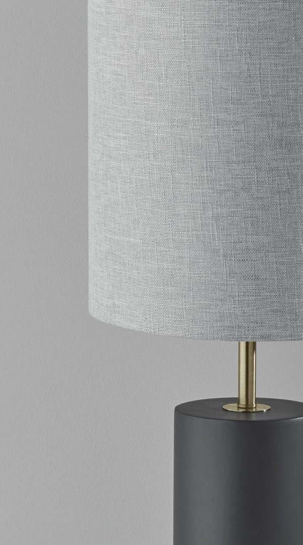 "16"" X 8"" X 25.5"" Brushed steel Metal Table Lamp"