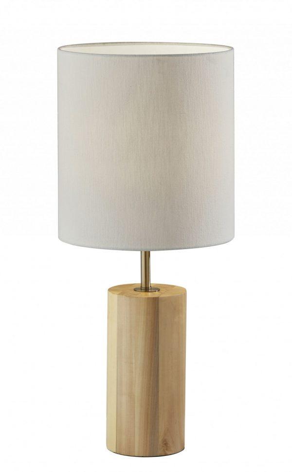 "13"" X 13"" X 30.5"" Natural Wood Table Lamp"