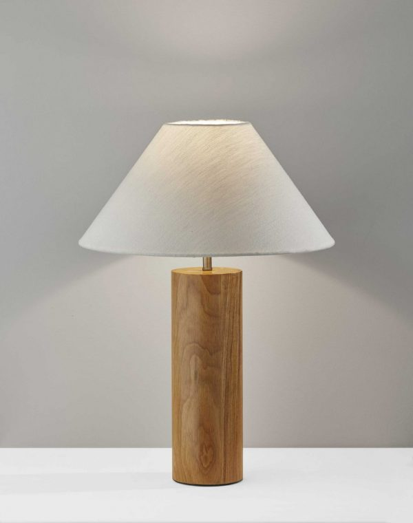"18"" X 18"" X 25.5"" Natural Wood Table Lamp"