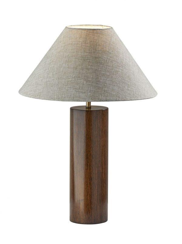 """18"""" X 18"""" X 25.5"""" Walnut Wood Table Lamp"""