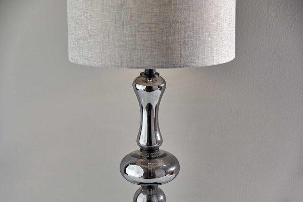 """15"""" X 15"""" X 24.5"""" Black Metal/Glass Tall Table Lamp"""