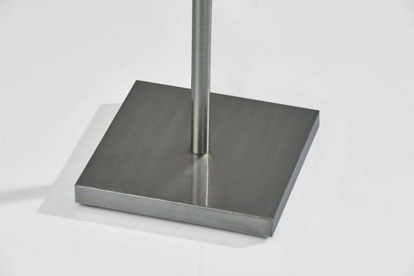 "19"" X 19"" X 65.5"" Black Metal Glass Fabric Floor Lamp"