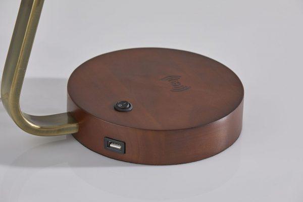 "11"" X 12"" X 19"" Antique Brass  Metal Table Lamp"
