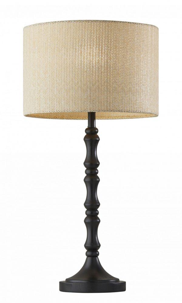 "13"" X 13"" X 26"" Black Polyresin Table Lamp"