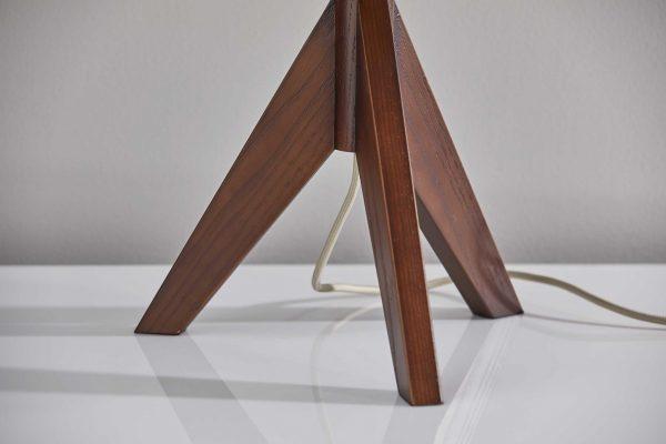"""13"""" X 13"""" X 23.5"""" Walnut Wood Table Lamp"""