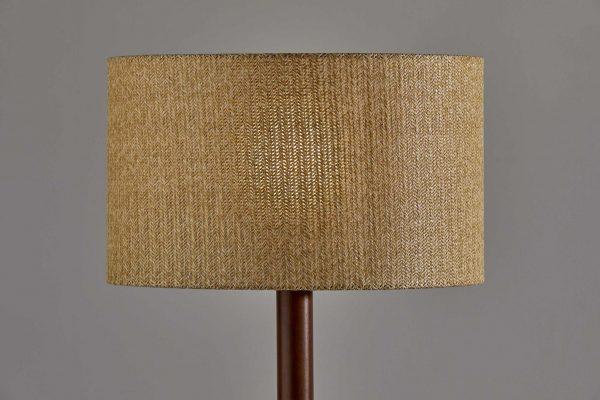 "18.5"" X 18.5"" X 59"" Walnut Wood Floor Lamp"