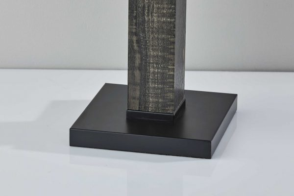 "15.5"" X 15.5"" X 27.75"" Black Wood Table Lamp"