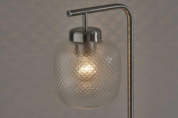 "7.5"" X 10"" X 19.5"" Brushed steel Metal Desk Lamp"