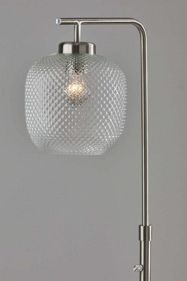 "10"" X 13.5"" X 60.25"" Brushed steel Metal Floor Lamp"