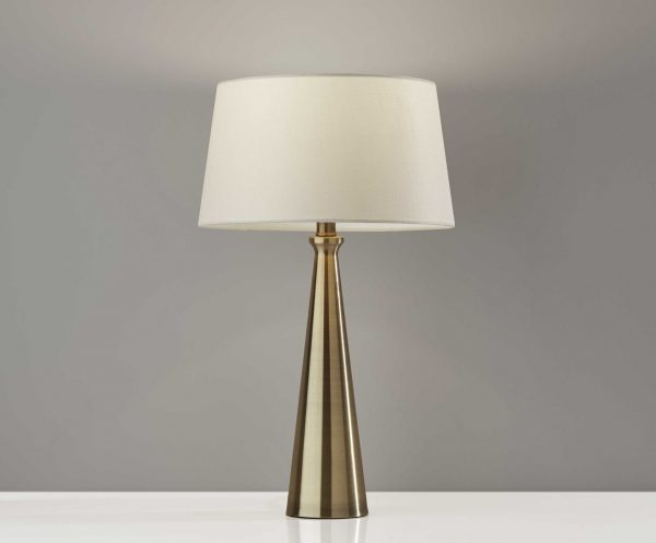 "13"" X 13"" X 22"" Antique Brass Metal 2 Pc. Table Lamp Bonus Pack"