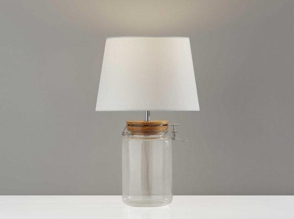 "10"" X 10"" X 16"" Clear  Jar Table Lamp"