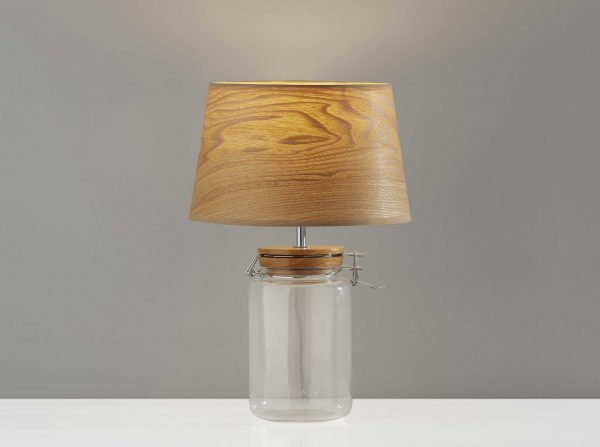 "10.5"" X 10.5"" X 15.5"" Natural  Jar Table Lamp"