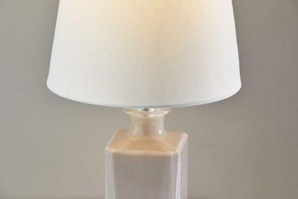 "10"" X 10"" X 16.5"" Light Purple Glass  Table Lamp"