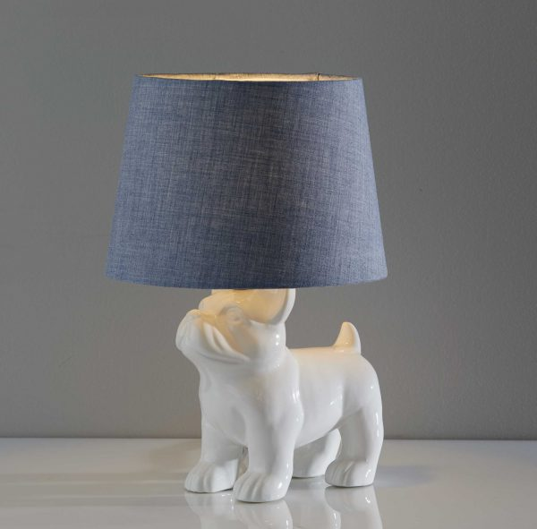 "10"" X 10"" X 15"" White  Table Lamp"