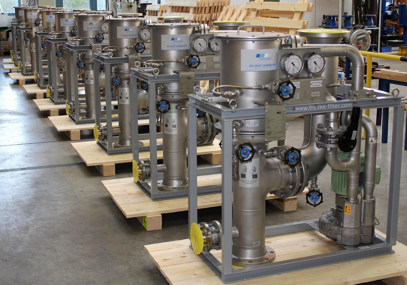 FRANKE-Filter Oil Mist Separators for BHGE Gas compression trains