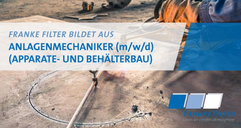 FRANKE-Filter bildet aus zum Anlagenmechaniker (m/w/d)