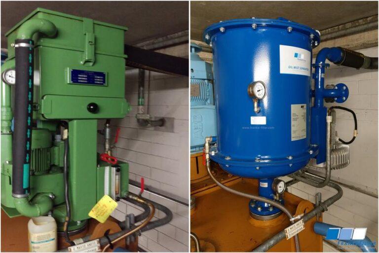 Ölnebelabscheider für Dampfturbinen