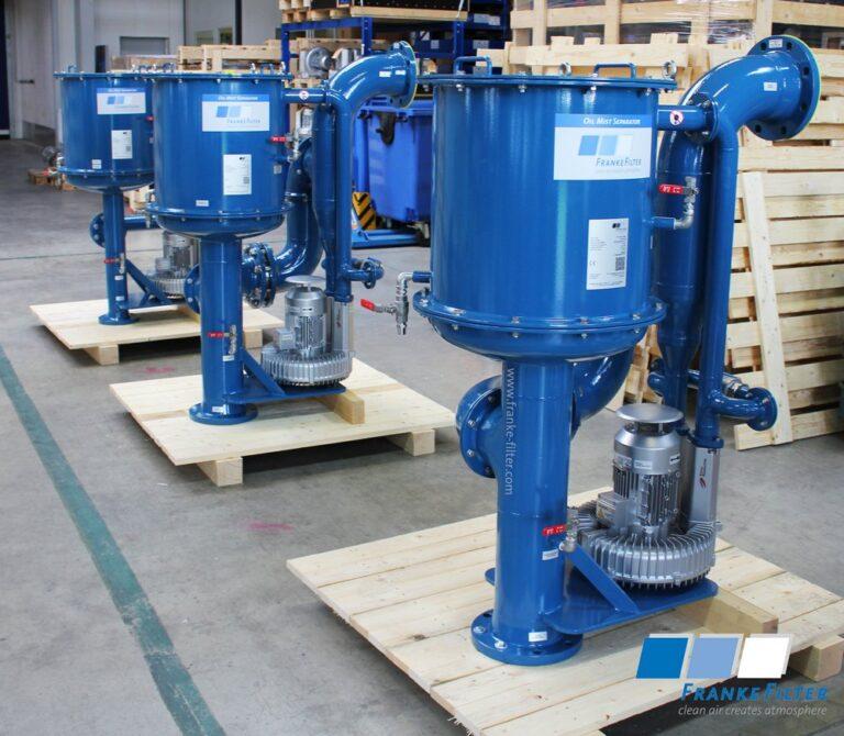Oil Mist Eliminators from FRANKE-Filter for fertilizer complex in Egypt.