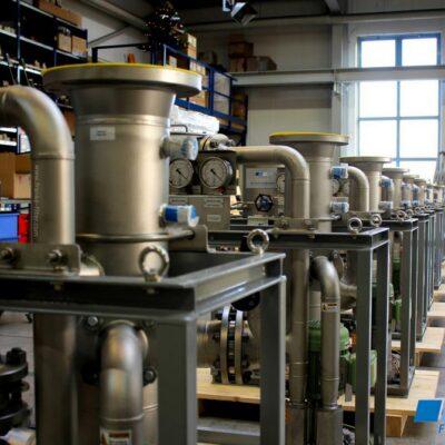 Ölnebelabscheider in Edelstahl für Gaskompressionszüge
