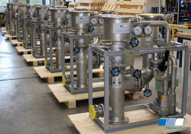 FRANKE-Filter Oil Mist Separators for gas compression trains