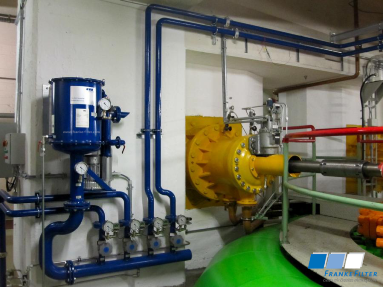 Oil mist extraction at hydro turbine - 4way suction manifold