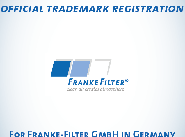 Announcement of trademark registration FRANKE-Filter GmbH