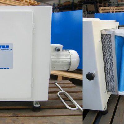 Emulsionsnebelabscheider für Metallbearbeitung FRANKE-Filter / Emulsion Mist Separator for metal working FRANKE-Filter