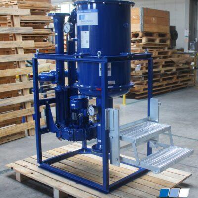 Ölnebelabscheider mit Leiter für einfache Wartung von FRANKE-Filter