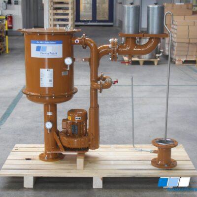 Ölnebelabscheider für eine Industriedampfturbine
