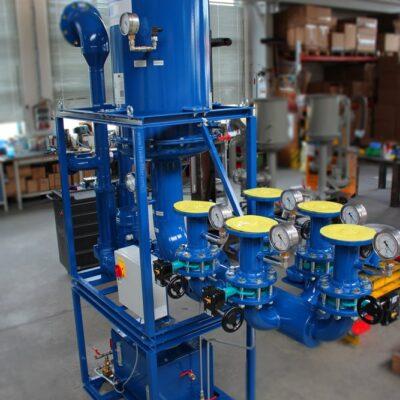 Ölnebelabscheider mit Fünffach-Verteilung für ein Hydrokraftwerk