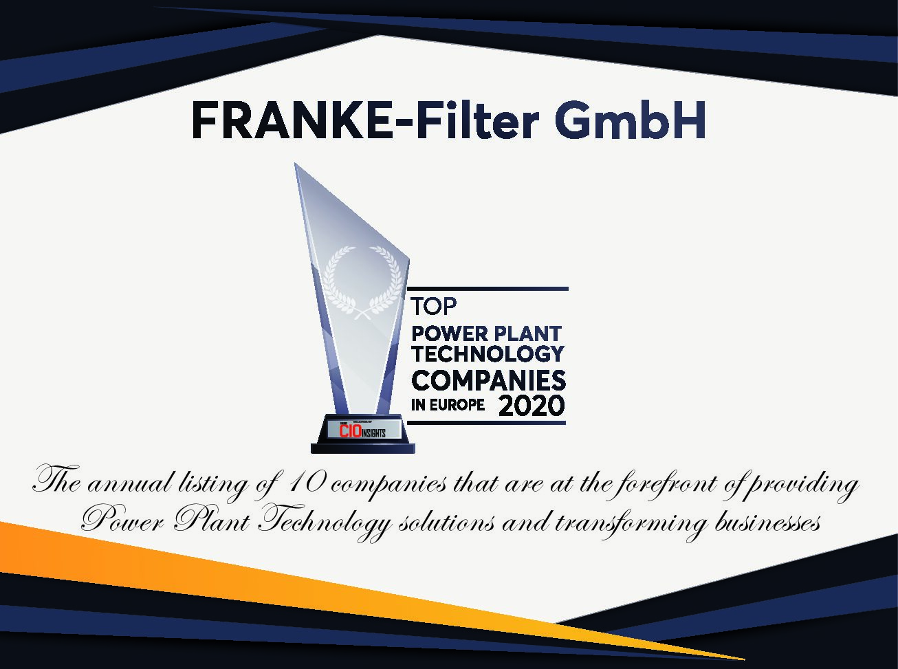 FRANKE-Filter Top 10 power plant company