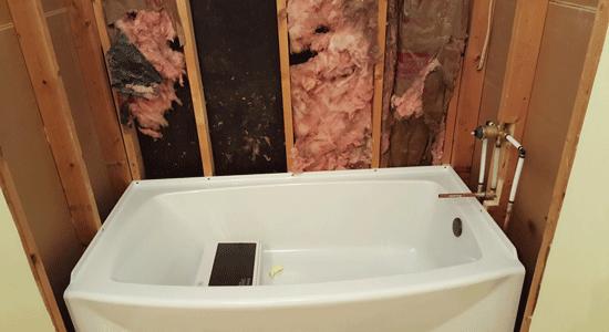 new bath tub install