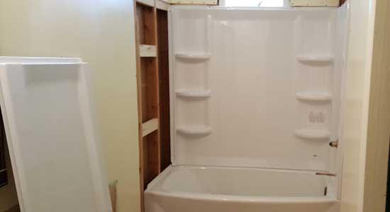 new bath surround