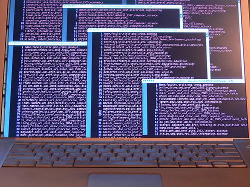 big data on computer image