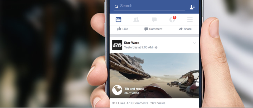 360-videos in newsfeed