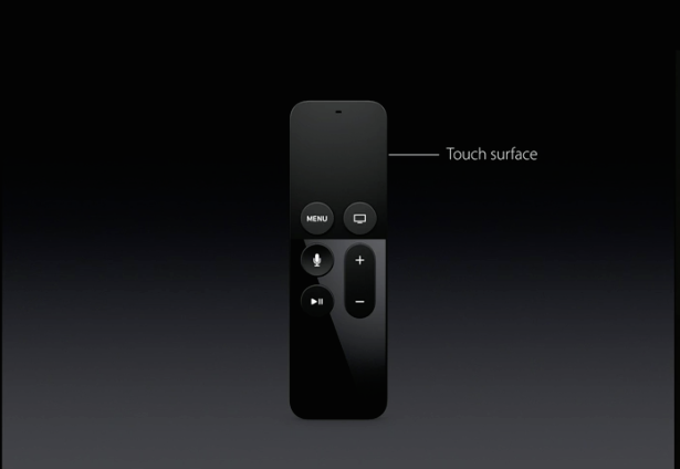 Apple TV's new remote.