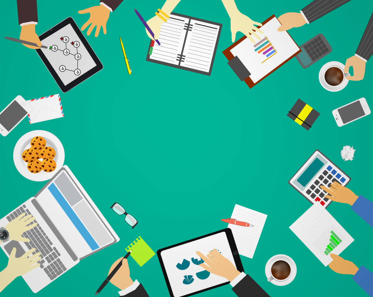 Business meeting for web development and strategy – Concept