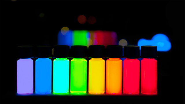 Quantum Dots with gradually stepping emission from violet to deep red are being produced in a kg scale at PlasmaChem GmbH